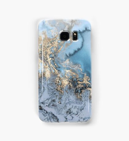 Blue and Gold Marble Samsung Galaxy Case/Skin