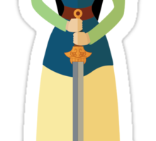 Symmetrical Princesses: Mulan Sticker