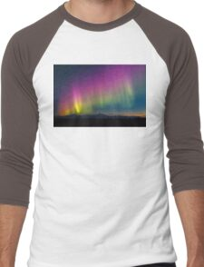 Talkeetna Techicolor Twilight Men's Baseball ¾ T-Shirt