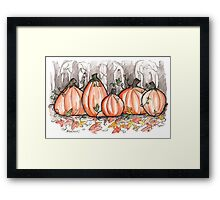 Watercolor Pumpkins Framed Print