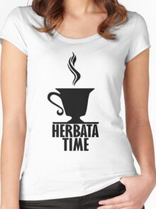 HERBATA TIME Women's Fitted Scoop T-Shirt