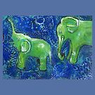 Jade Elephants by Maria Pace-Wynters
