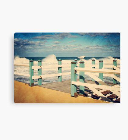 Seagull at Rest Newcastle Beach Canvas Print