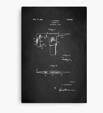 Vintage Firefighter Axe Patent 1925 Canvas Print