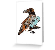 Crow boarding Greeting Card