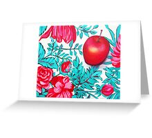 Rosy Apple Greeting Card