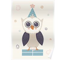 Birthday Owl Poster