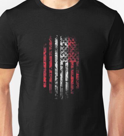 Austria and America Flag Combo Distressed Design Unisex T-Shirt