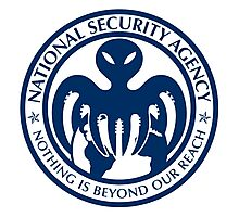 The spectre of the NSA (USA blue) Photographic Print