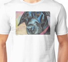 "Little Black Dog (""Korra"" the lab-mix) Unisex T-Shirt"