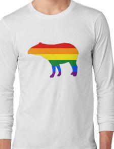 Rainbow Tapir Long Sleeve T-Shirt