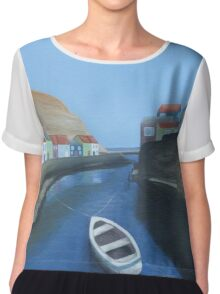 Out to Staithes Harbour Chiffon Top