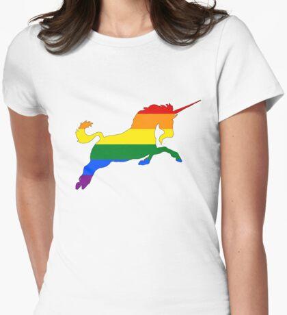 Rainbow Unicorn Womens Fitted T-Shirt