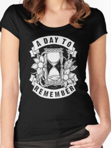 A Day to Remember Hourglass Funny Black Men's Tshirt Women's Fitted Scoop T-Shirt