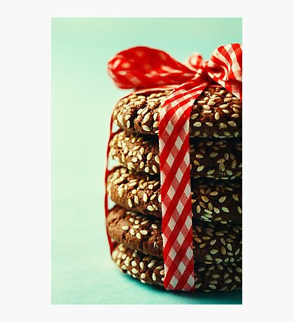 Stack of Fresh Natural Homemade Cookies  Photographic Print