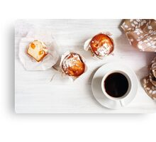 Sweet Fresh Baked Homemade Muffins Canvas Print