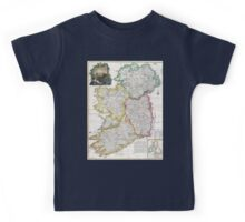 Map of Ireland - Rocque - 1794 Kids Tee