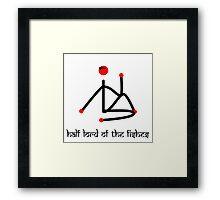 Stick figure-Half lord of the fishes yoga pose Sanskrit Framed Print