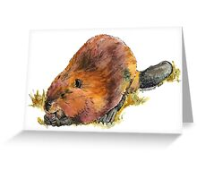 Pudge the Beaver Greeting Card