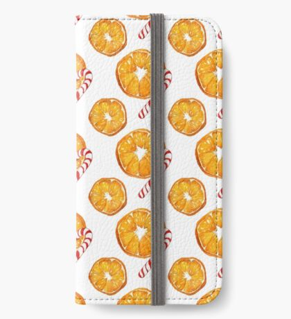 Oranges and candy canes iPhone Wallet/Case/Skin