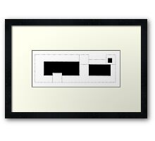 full and empty Framed Print