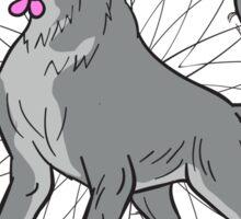 Timber Wolf Plumeria Flower Dreamcatcher Drawing Sticker