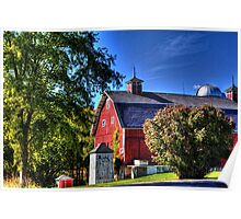 Barn and Out-Buildings Brunner Family Farm Poster