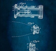 Firefighter's Hose Nozzle Patent 1947 by Patricia Lintner