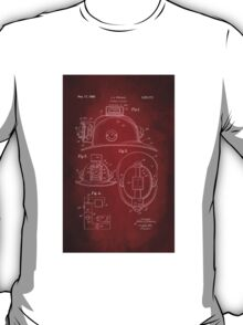 Firefighter Helmet Patent 1965 T-Shirt