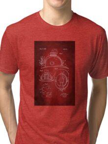 Firefighter Helmet Patent 1965 Tri-blend T-Shirt