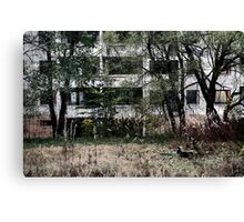 10.10.2014: Abandoned Bench Canvas Print