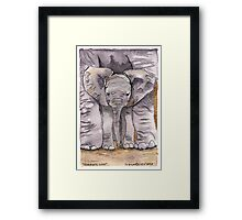 Elephant Mother's Love Framed Print