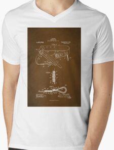 Firefighter Belt Patent 1911 Mens V-Neck T-Shirt