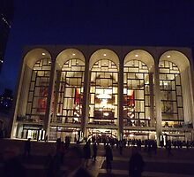 The Classic Architecture of Lincoln Center at Night, New York City  by lenspiro