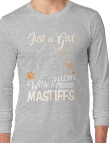 Just Girl In Love With Her Mastiffs Long Sleeve T-Shirt