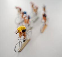 Cyclists 2 by Flo Smith