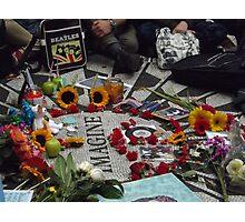 John Lennon Birthday Celebration, Strawberry Fields, Central Park, October 9, 2014  Photographic Print