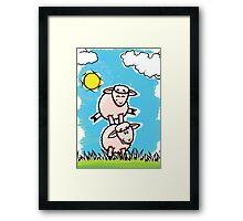 HeinyR- Sheep Friends Framed Print