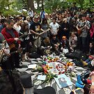 John Lennon Birthday Celebration, Strawberry Fields, Central Park, October 9, 2014  by lenspiro