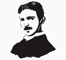 Nikola Tesla Stencil by tlau