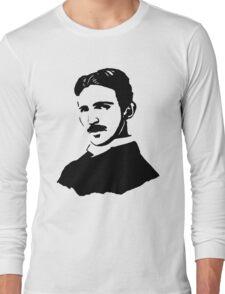 Nikola Tesla Stencil Long Sleeve T-Shirt