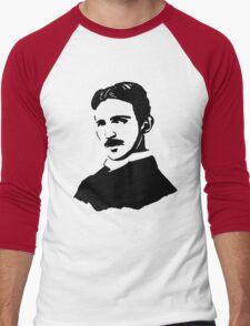 Nikola Tesla Stencil Men's Baseball ¾ T-Shirt