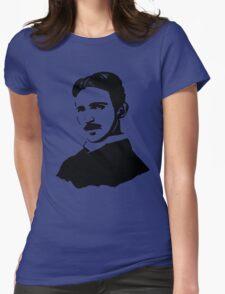 Nikola Tesla Stencil Womens Fitted T-Shirt
