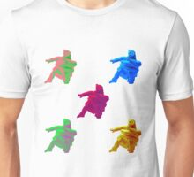 Statue Dabbing Multicolor Unisex T-Shirt