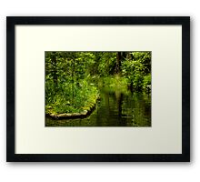 Green Peaceful Land - Nature Photography Framed Print
