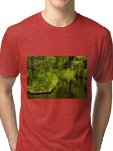 Green Peaceful Land - Nature Photography Tri-blend T-Shirt