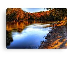 Fox River Early Fall Colors Canvas Print