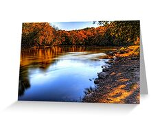 Fox River Early Fall Colors Greeting Card