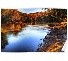 Fox River Early Fall Colors Poster