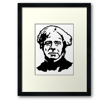Michael Faraday Stencil Framed Print